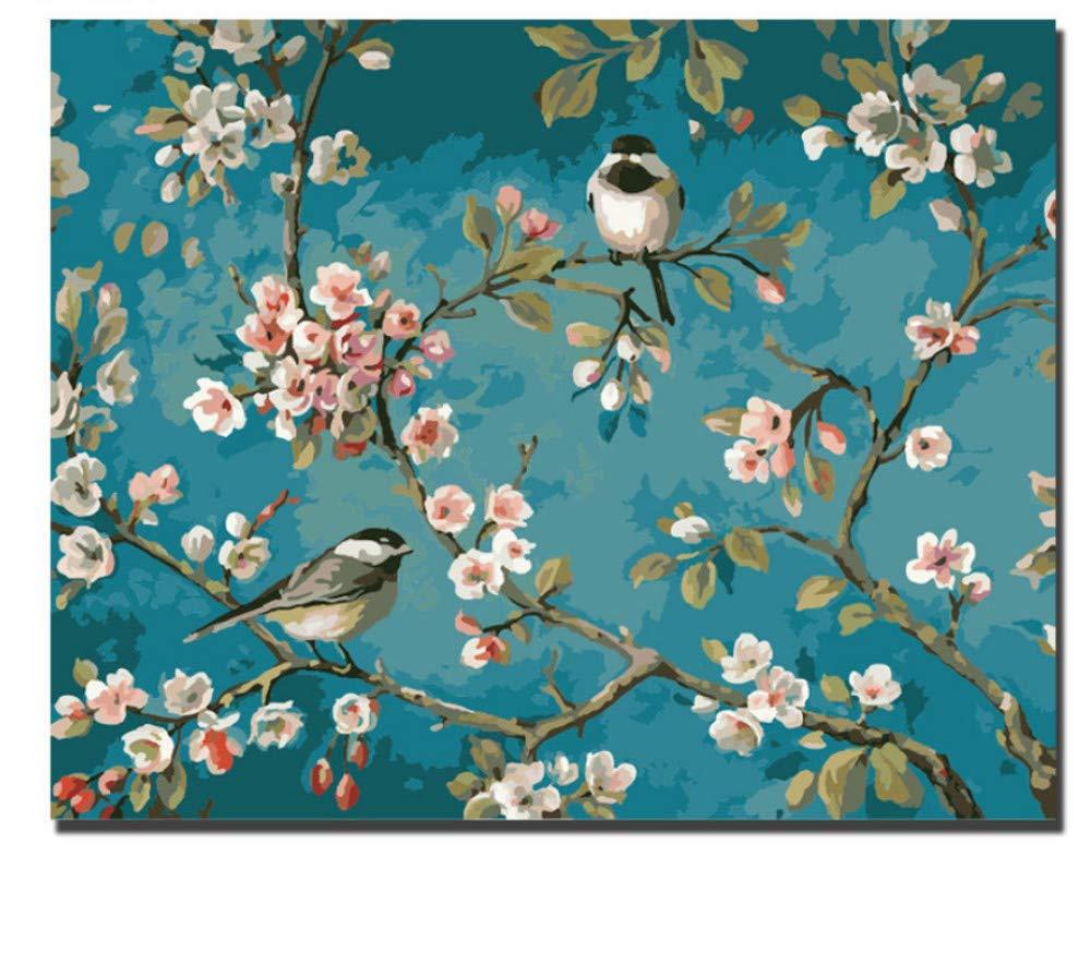 WYTTT Elster Baum Blaume Malen Nach Zahlen Auf Leinwand Digital Oder DIY D Wandbilder Für Heimtextilien Kunst 16X20 Zoll Kein Rahmen B07PMWR91B   New Style