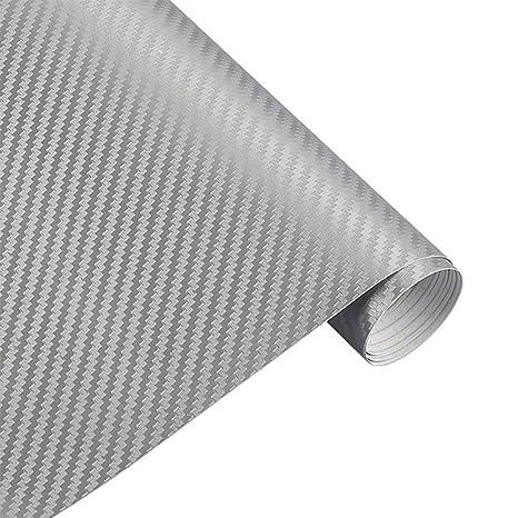 3D Waterproof Carbon Fiber Vinyl Wrap Sticker Sheet for Dashboard Steering wheel