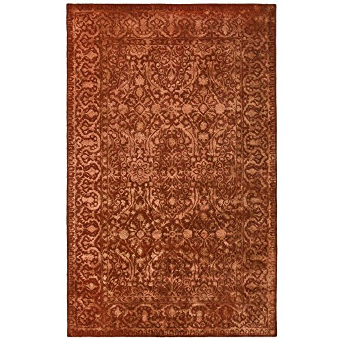 Safavieh Silk Road Collection SKR213E Handmade Rust New Zealand Wool Area Rug 5 x 8