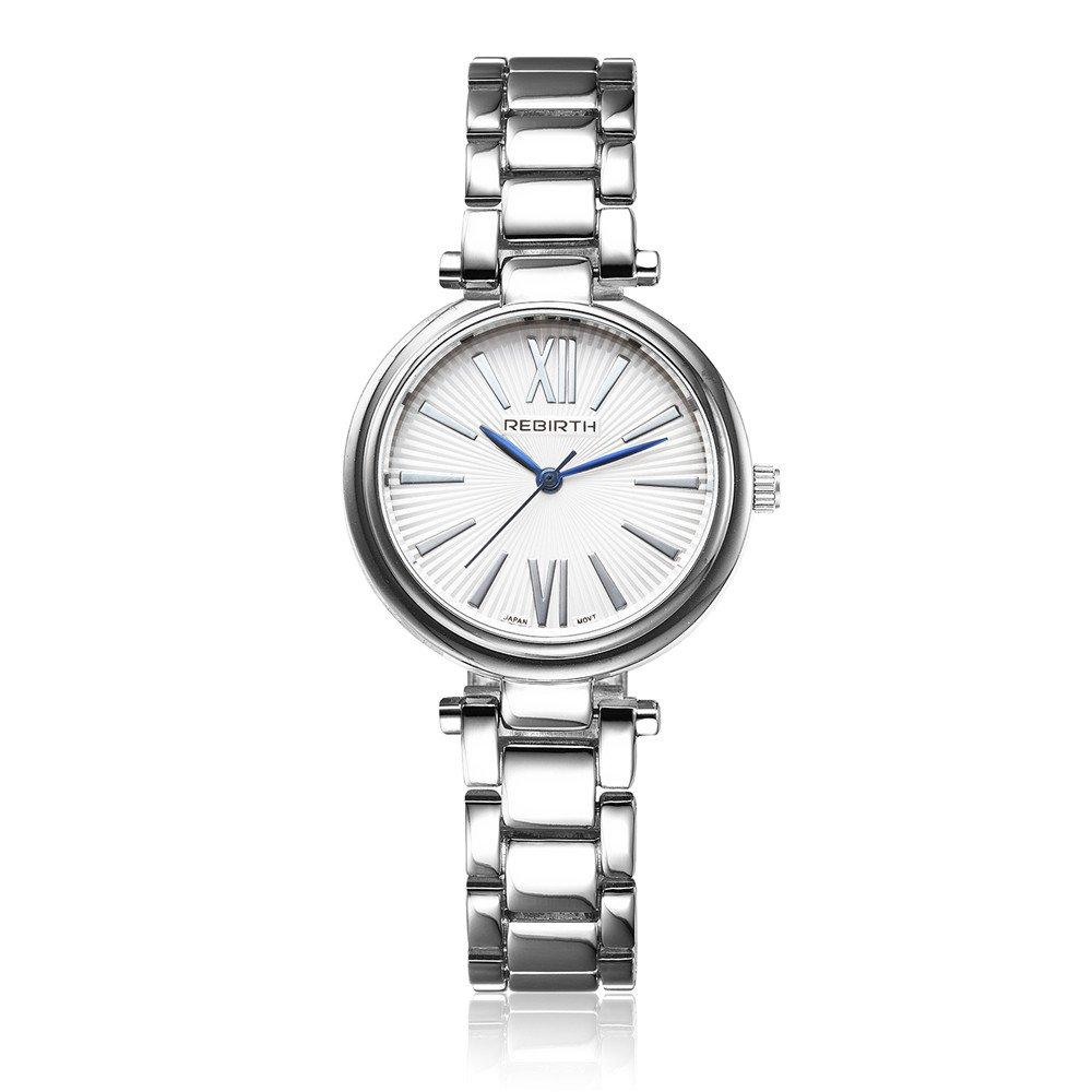 Lady 's Uniqueアナログクォーツローマ数字腕時計防水ファッションステンレススチールバンドドレス手首 4# B06ZY5MSMX 4# 4#