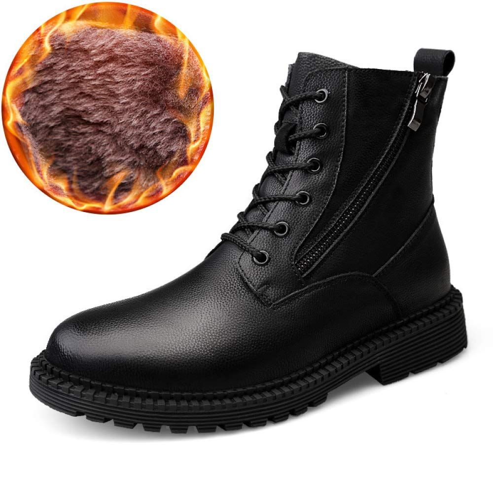 Männer Schwarz Leder Schnürstiefel High Top Schuhe Armee Militärische Taktische Stiefel Outdoor Wandern Trekking Stiefel Polizei Sicherheit Sicherheitsstiefel