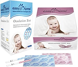 Easy@Home Ovulation Test and Pregnancy Test Kit, 50LH+20HCG Strips Combo+25 LH Strips