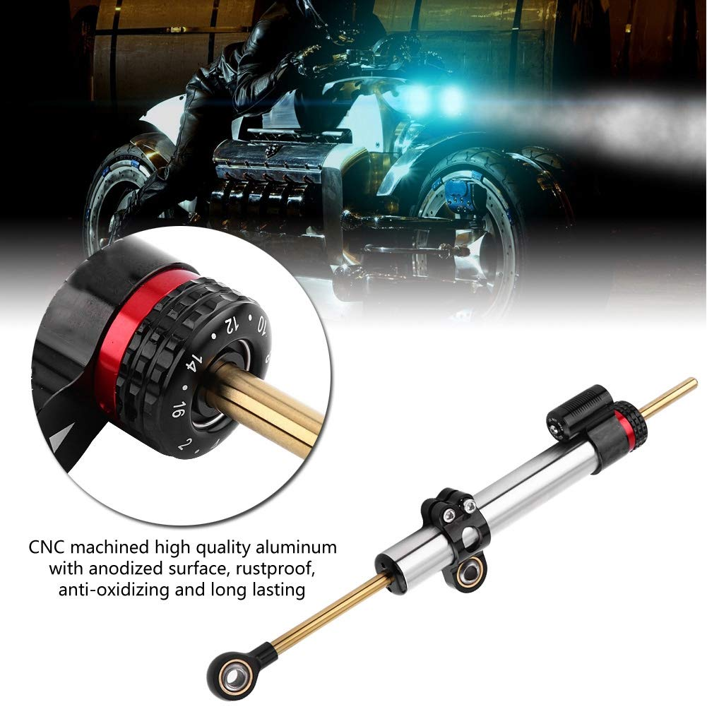 lange Universal Motorrad Lenkungsd/ämpfer Stabilisator f/ür Yamaha MT10 MT 07 MT09C Kontrolle behalten und Erm/üdungserscheinungen reduzieren Lenkungsd/ämpfer