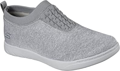 Skechers Millenial Womens Slip On Sneakers White/Light Gray 9.5 dd3b3c