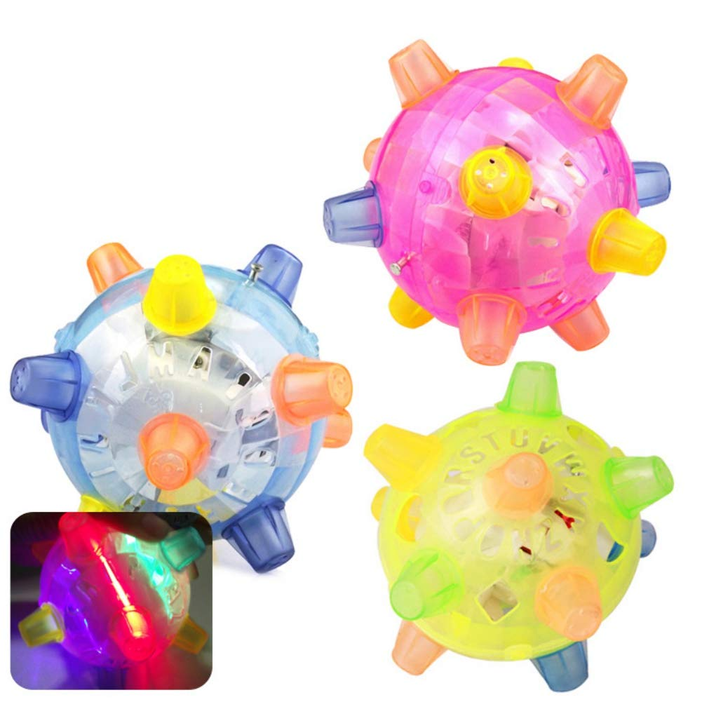 Pet Toys Light Up Play Balls for Cat Dog Jumping Flashing Bouncing Toy Ball