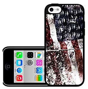 American Flag Grunge Pattern Red White and Blue Hard Snap on Cell Phone Case Cover iPhone 5c