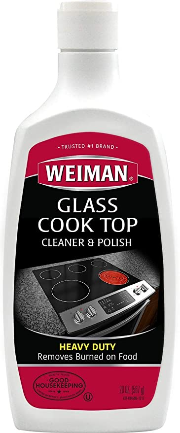 Wondrous Weiman Glass Cooktop Cleaner Polish Heavy Duty No Scratch Glass Ceramic Safe Non Abrasive 10 Fl Oz Download Free Architecture Designs Scobabritishbridgeorg