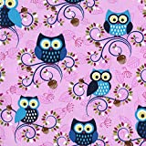 5 Foot Twin Weighted Blanket by Lifetime Sensory Solutions, Custom Made Weighted Sensory Blanket for Kids (07 lb for 60 lb child, Rose Owls)