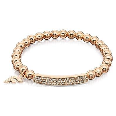 Fiorelli Costume Fashion Pave Rose Gold Beads Stretchy Bracelet  Fiorelli   Amazon.co.uk  Jewellery 7aa8207a7a