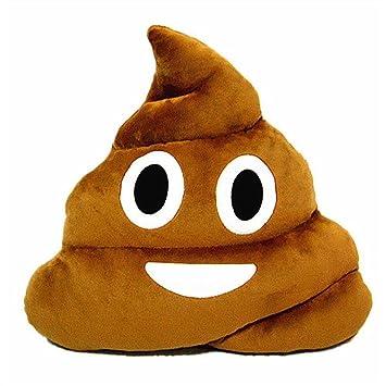 Amazon.com: Spiritup Poop Emoji Emoticon - Cojín decorativo ...