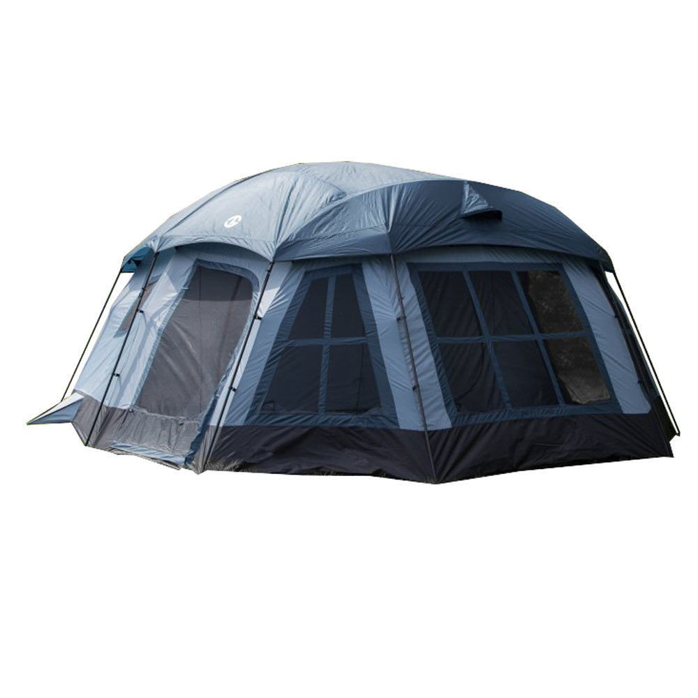 Ozark 16-Person 3-Season Large Family Cabin Tent, Blue   TGT-OZARK-16 With Ebook