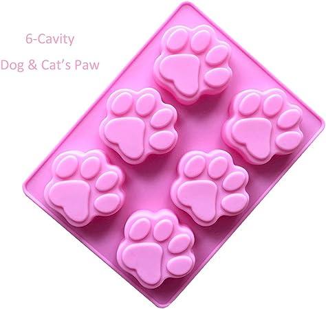 2-pack (silicona), diseño de perro y gato de huellas de chocolate ...
