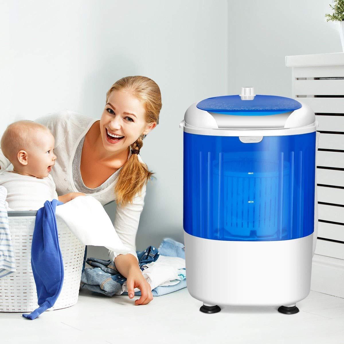 Washing Machine, 5.5 lbs Portable Mini Semi Auto Washing Machine by MD Group (Image #7)