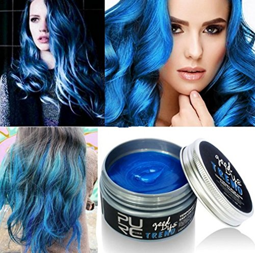 Plovex Color Hair Wax Styling Pomade Silver Grandma Grey Temporary Hair Dye Disposable Fashion Molding Coloring Mud Cream (Temporary Hair Dye For Dark Hair)