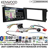 Volunteer Audio Kenwood Excelon DNX994S Double Din Radio Install Kit with GPS Navigation Apple CarPlay Android Auto Fits 2000-2008 Audi A6