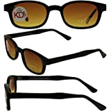 "Original KD's Biker Sunglasses with """"Blue Buster"""" Amber Lenses"