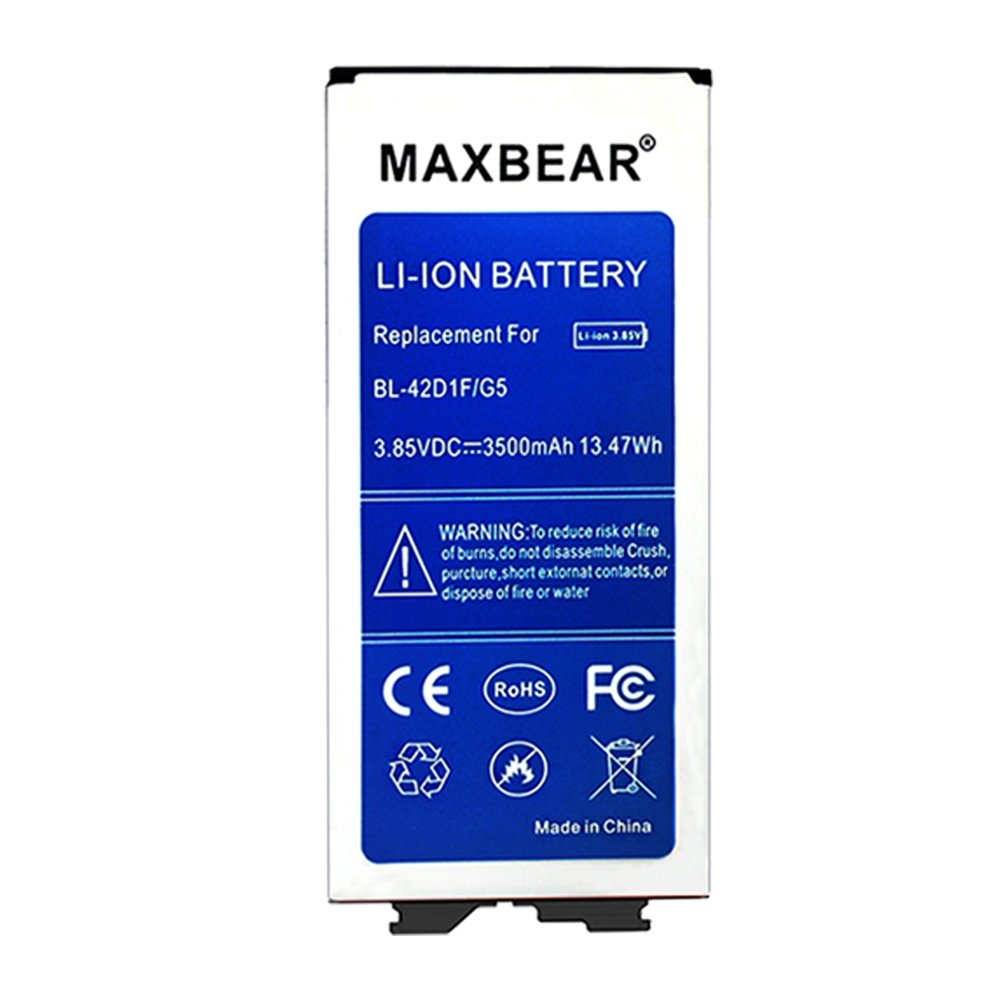 MAXBEAR G5 Battery,3500mAh Replacement Li-ion Battery for LG G5 BL-42D1F H830 (T- Mobile),H820 (AT&T),VS987 (Verizon),LS992 (Sprint),US992 (US Cellular)   G5 Spare Battery by MAXBEAR (Image #2)