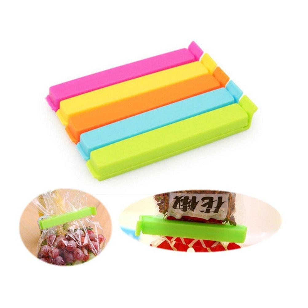 Ultnice 5pcs Freezer Kitchen Bag Clips Clip for Home Door Seal (Random Color)