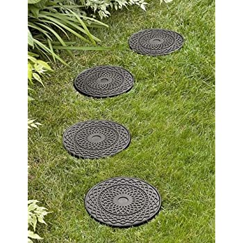 Amazon Com River Rock Stepping Stones Set Of 3