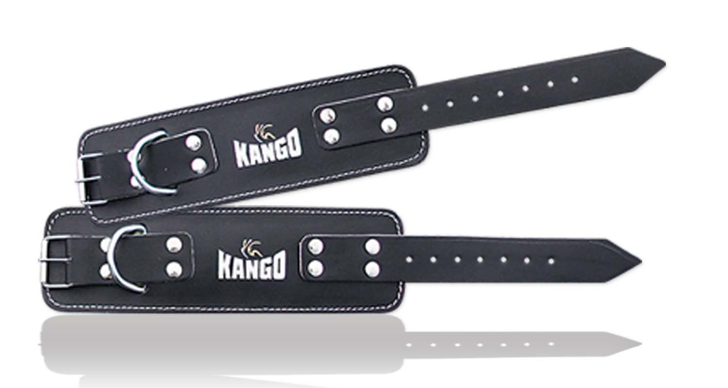 Kango Pair of Premium Quality Leather Ankle Straps For Cable Machines Best Ankle Cuff For Leg Workout Equipment Cuffs For Leg Exercise And Workout Machine Ideal Ankle Cable Straps For Men And Women