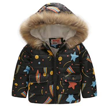 a3154b221c73 Amazon.com  Jurassic World Boys Girls  Quilted Padded Winter Coat ...