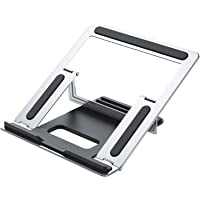 DOODEE Sturdy Aluminium-alloy Ergonomic stand with Slide-Proof Silicone for Tablets and laptops, great for work…