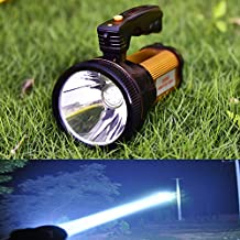 Odear Super Bright Torch Searchlight Handheld Portable LED Spotlight 6000 Lumens USB Rechargeable Multi-function Flashlight Outdoor Long Shots Lamp