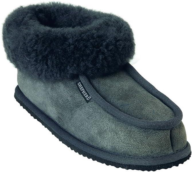 86efd4dea68 Shepherd Krister Classic Mens Sheepskin Slipper With Cuff - Size 7 41   Amazon.co.uk  Shoes   Bags