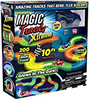Ontel Magic Tracks Xtreme with Race Car and 10 ft of Flexible, Bendable Glow in the Dark Racetrack, As Seen on