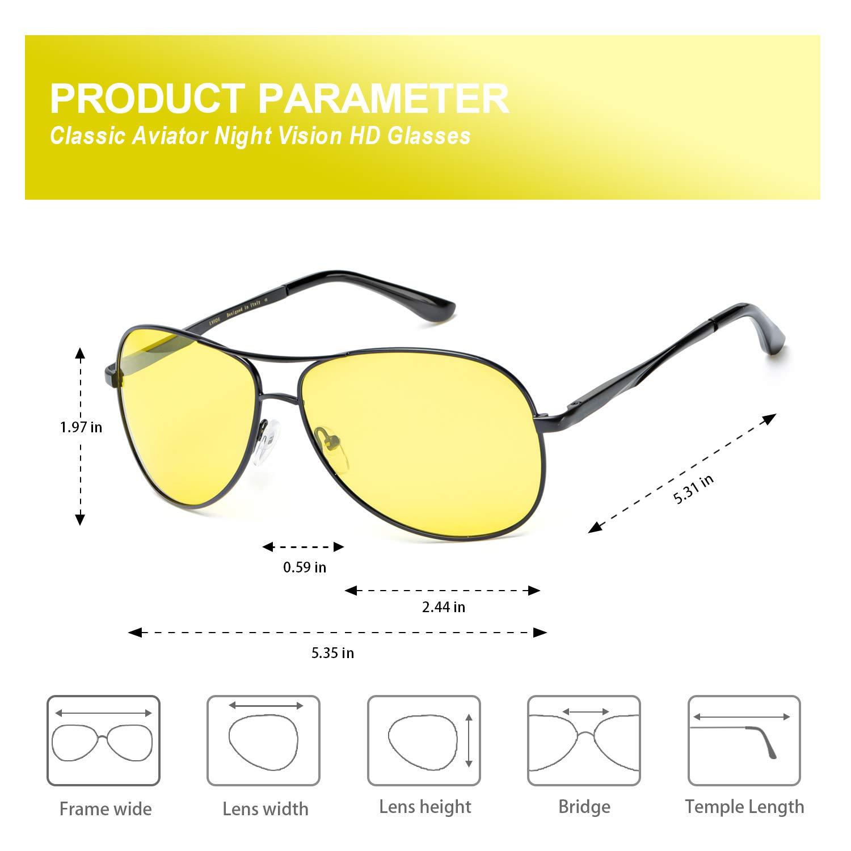 6e5b0e3f740 Amazon.com  Pilot Night Vision Glasses