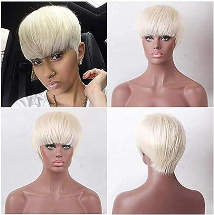 Gaddrt - Peluca de pelo sintético corto para mujer, color ...