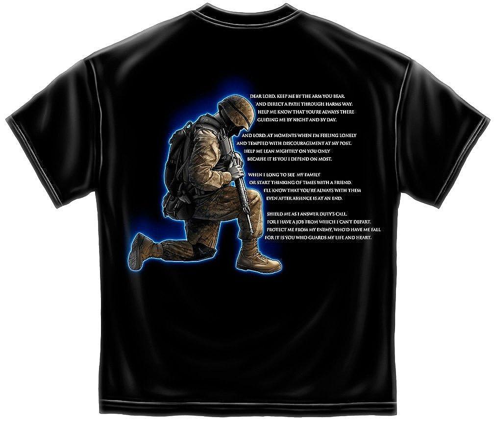 de99dfcbd0b116 Amazon.com: Soldiers Prayer Marine Corps US Army Air Force US Navy T-Shirt  ADD21-MM104XXL: Clothing