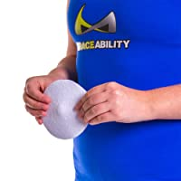 BraceAbility Hernia Belt Replacement Pad | Silicone Pad with Soft Fabric Cover,...