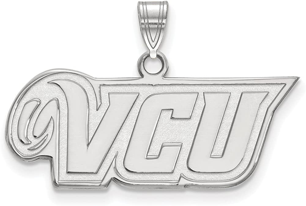 17mm x 29mm Solid 925 Sterling Silver Official Virginia Commonwealth University Small Pendant Charm