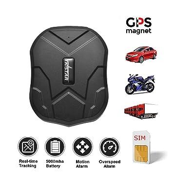 Rastreador GPS TKSTAR con Tarjeta SIM, localizador GPS ...