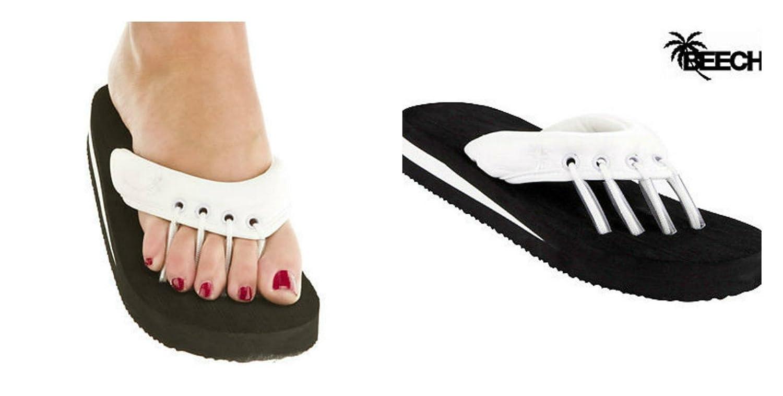 Little Big Girls Stylish Casual Beach Slip On Summer Spa Pedicure Flip-Flops