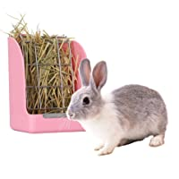 GZDDG Rabbit Hay Feeder/Rack - Less Wasted Plastic Rabbit Cage Hay Rack Manger for Rabbits/Guinea Pig/Chinchilla/Small Animals