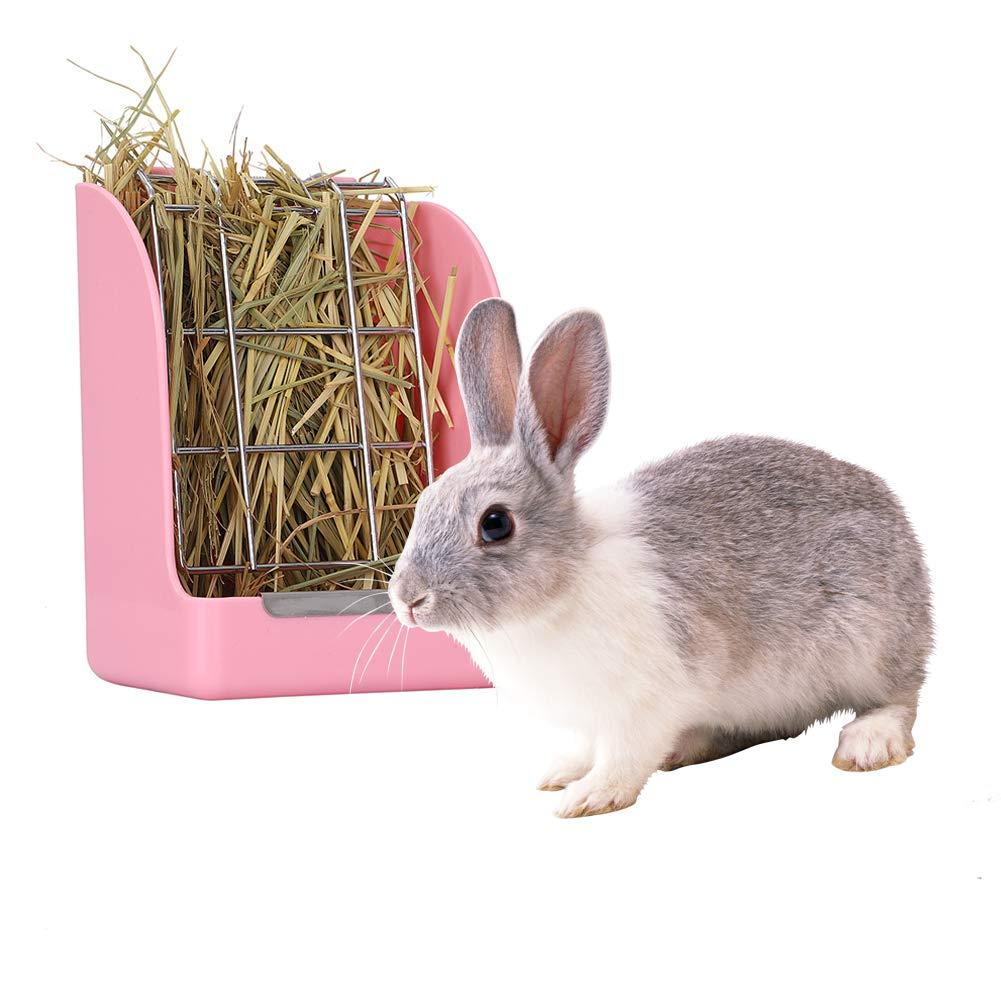Minjie Rabbit - Jaula de plástico para heno (Apta para cobayas ...