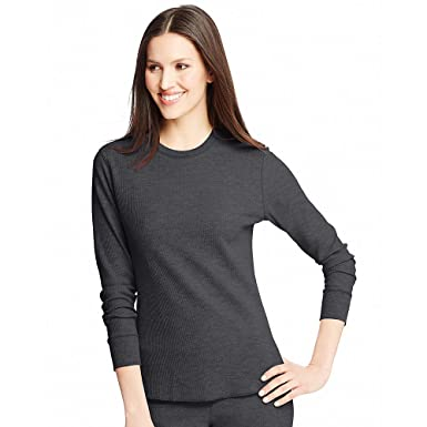 2026dc8b9 Hanes Women s Thermal Crew Neck Top at Amazon Women s Clothing store