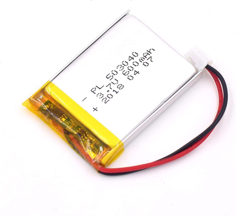 Bateria Lipo 3.7V 600mAh Conector JST 40 x 30 x 5mm