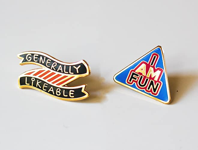 Amazon com: Funny Enamel Pin Set | Funny Hard Enamel Pin | Gold