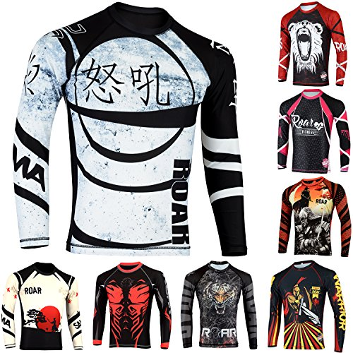 (ROAR-INT BJJ Rash Guard (Ninja, Large))