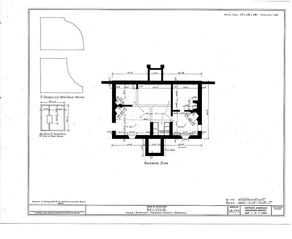 Amazon com: historic pictoric Blueprint Diagram HABS VA, 30