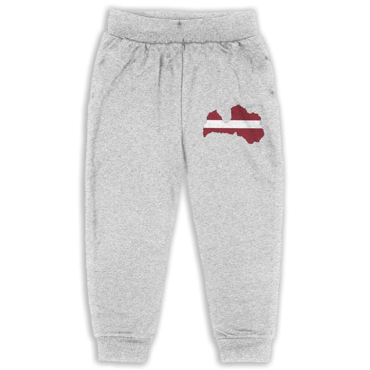 DaXi1 Latvia Sweatpants for Boys /& Girls Fleece Active Joggers Elastic Pants