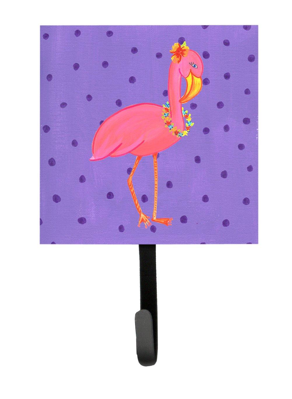 Carolines Treasures LD6154SH4 Bird-Flamingo Leash Holder or Key Hook Multicolor Small