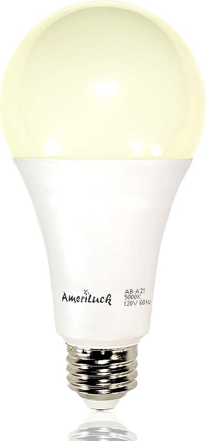 50-100-150W Equivalent 4 AmeriLuck 4000K Cool White 3-Way LED Light Bulb A21