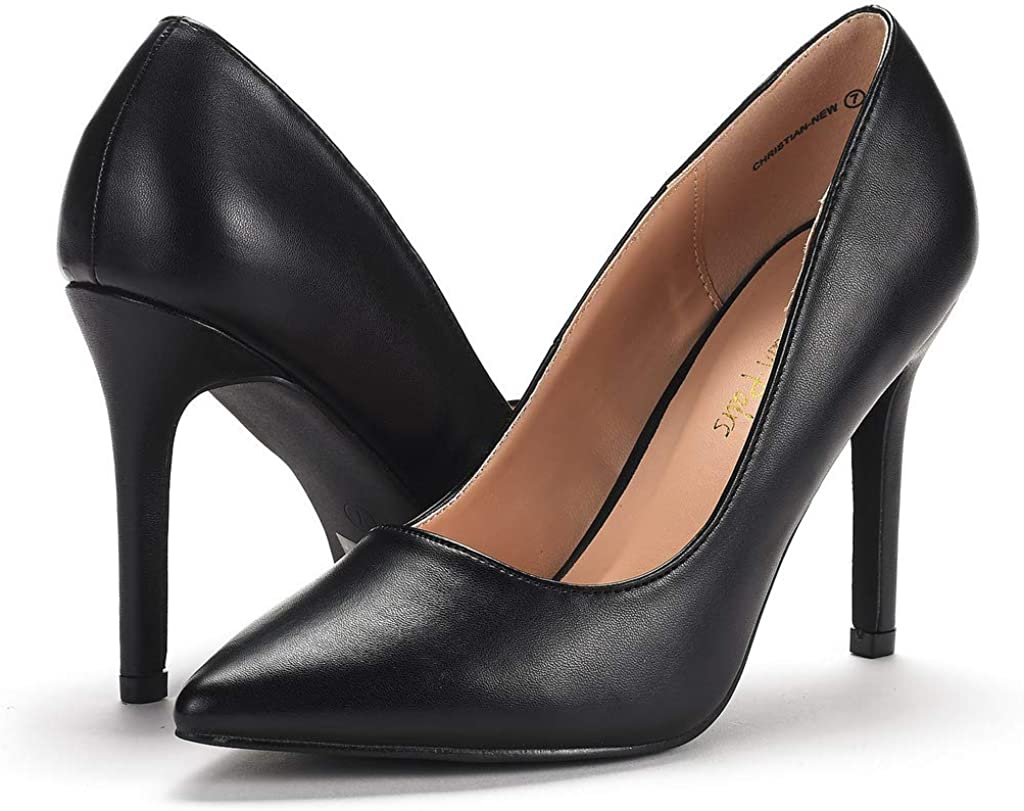DREAM PAIRS Womens High Heel Pointed Toe Dress Court Shoes