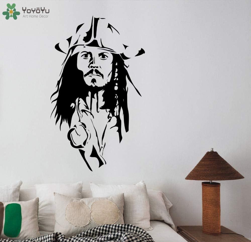 Capitán Jack Sparrow tatuajes de pared de vinilo removible ...
