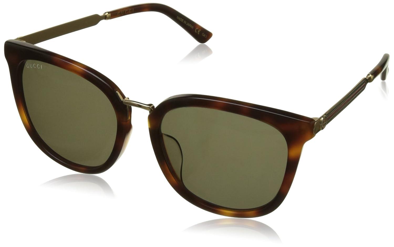 Gucci GG0079SK gafas de sol, AVANA, 56 para Hombre