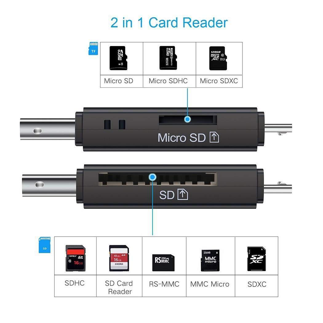 katem Lettore di schede ad Alta velocità USB 2.0 Portatile per Computer Smartphone Memory Management